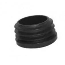 PLASTIC INSLAGDOP ROND ZWART 15 MM