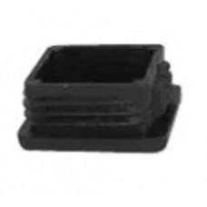 PLASTIC INSLAGDOP VIERKANT ZWART 30-30 MM
