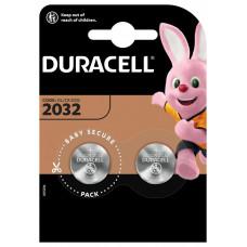 DURACELL BATTERIJ LITHIUM KNOOPCEL 3V DL2032 (2 STUKS)