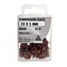 PLANKDRAGERS PLASTIC BRUIN 10X5 MM 24 ST