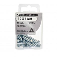 PLANKDRAGERS METAAL METAAL 10X5 MM 24 ST