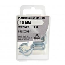 PLANKDRAGERS SPECIAAL VERZINKT 15 MM 4 ST