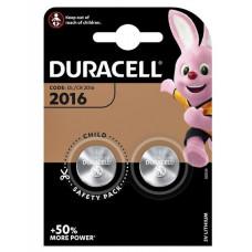 DURACELL BATTERIJ CR2016 LITHIUM 3 VOLT (2 STUKS)