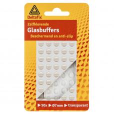 GLASBUFFERS BOL TRANSP. 1,3 X Ø8 MM 50 ST.