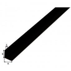 HOEKPROFIEL,PVC,ZWART,10X10X1/2M