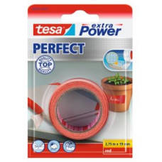 TESA EXTRA TEXTIELTAPE POWER PERFECT 2.75M 19MM ROOD