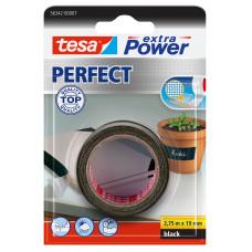 TESA EXTRA POWER PERFECT 2.75M 19 MM ZWART 2.75 19 ZWART