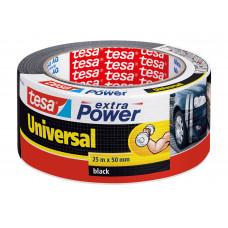 TESA EXTRA POWER UNIV. ZWART 25M:50MM 25 50 ZWART