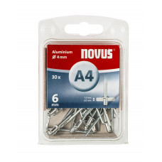 NOVUS BLINDKLINKNAGEL 4 X 6MM ALU 30 ST. OP=OP