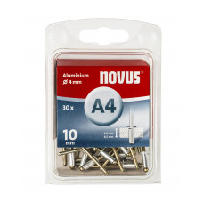 NOVUS BLINDKLINKNAGEL 4 X 10MM ALU 30 ST. OP=OP