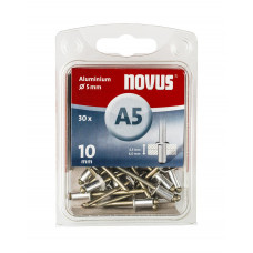 NOVUS BLINDKLINKNAGEL 5 X 10MM ALU 30 ST OP=OP